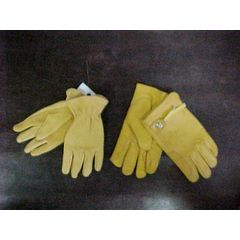 Leather glove adjustable