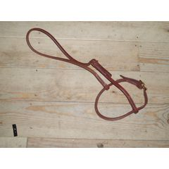 Harnes leather noseband rounded