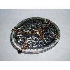 Buckle Longhorn small round