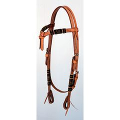 Light oil headstall with rawhide