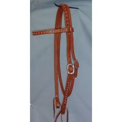 Studded Single Buckle Browband Headstall