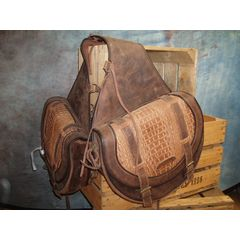 Saddlebag Kroko Large