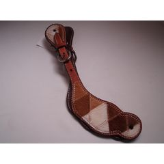 Spur strap mixed cowhide