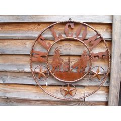 Welcome  sign  round cowhorse small
